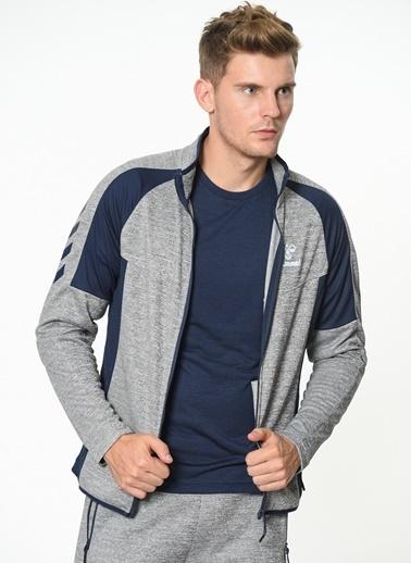 Hummel Fermuarlı Sweatshirt Gri